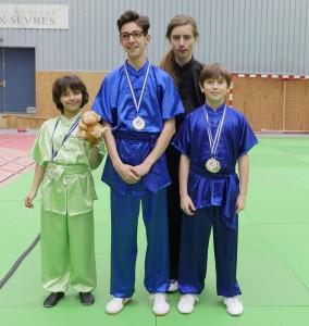 Maïa - Thomas - Adrien et Dimitri, tous qualifiés pour les championnats de France traditionnel