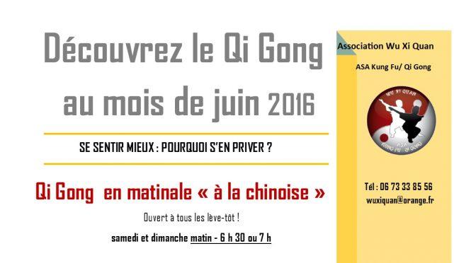 Qi Gong Découverte de Juin