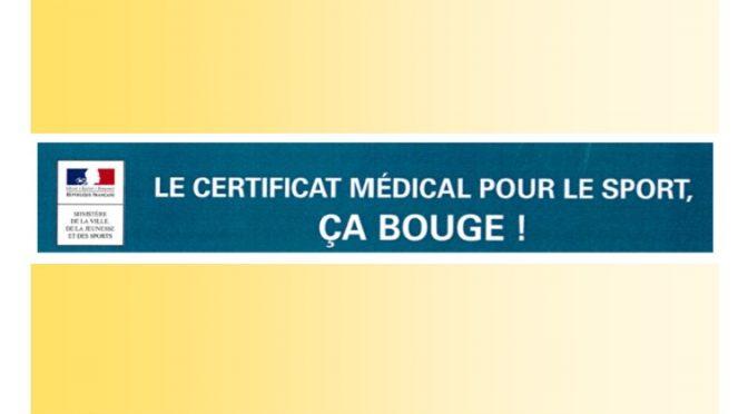 infos certificat médical