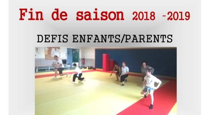 Fin de saison : Duo Parents/Enfants