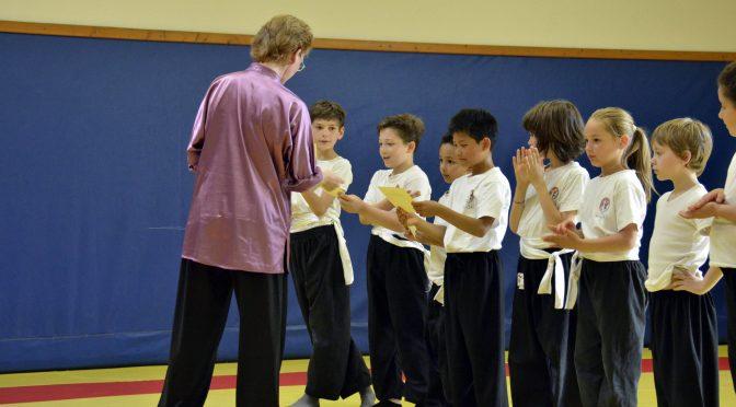 passage de grades kung fu réussi